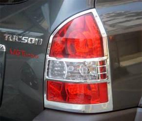 Накладки на стопи (2 шт., пласт) - Hyundai Tucson JM 2004+ рр.