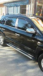Накладки на стійки (нерж) - Hyundai Tucson JM 2004+ рр.