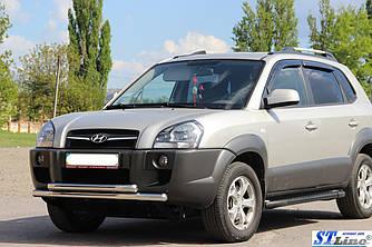 Передня захист ST014 (нерж.) - Hyundai Tucson JM 2004+ рр.