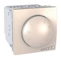Выключатель с диммером поворотно-нажимной (400Вт), слоновая кость, Schneider electric Unica