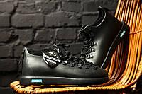 Водонепроницаемые и морозоустойчивые мужские ботинки Native Fitzsimmons Jiffy Black топ реплика