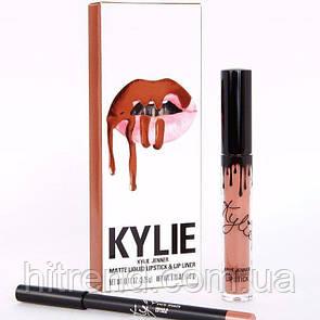 Набор матовая помада и карандаш для губ в стиле Kylie Lip Kit Dolce-K