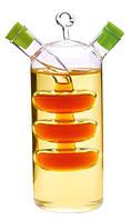 Емкость 2в1 Fissman для масла 350 мл и уксуса 50 мл стекло FN-OV-7523psg, КОД: 170443