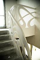 Бетонные перила для лестницы в дом