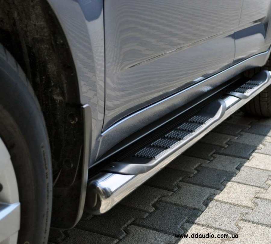 Бічні труби BB002 (2 шт., нерж.) - Kia Sportage 2004-2010 рр.