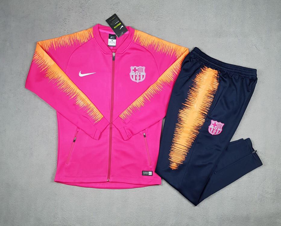 Спортивный костюм Барселона сезон 2018-2019 (розовый)
