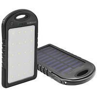 Power Bank Samsung 8000mAh USB(1A) с солнечной батареей, индикатор заряда, фонарик 20SMD, ультрафиолет -131 (3