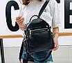 Рюкзак женский сумка трансформер Сomfort Черный, фото 3