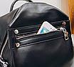 Рюкзак женский сумка трансформер Сomfort Черный, фото 4