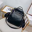 Рюкзак женский сумка трансформер Сomfort Черный, фото 2