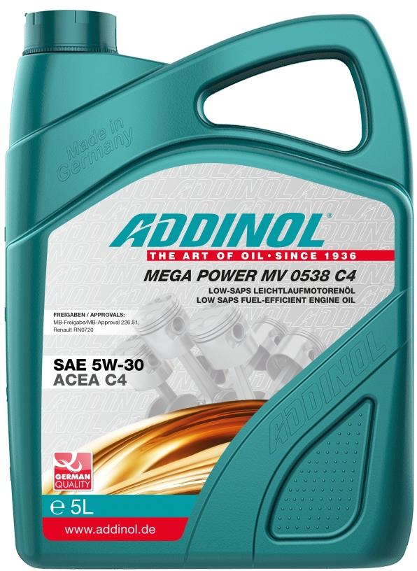 ADDINOL Mega Power MV 0538 C4 5W-30 5л