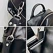 Рюкзак женский сумка трансформер Сomfort Черный, фото 6