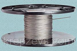 Трос Ф2.5 плетение 1х19 DIN 3053