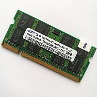 Оперативна пам'ять для ноутбука Samsung SODIMM DDR2 2Gb 800MHz 6400s CL6 (M470T5663RZ3-CF7) Б/В