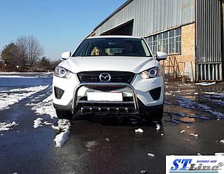 Передняя защита WT021 (нерж.) - Mazda CX-5 2012-2017 гг.