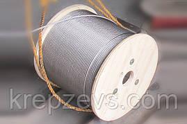 Трос Ф4.0 плетение 1х19 DIN 3053