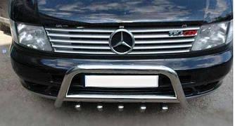 Накладки на решетку (10 частей, нерж) - Mercedes Vito W638 1996-2003 гг.