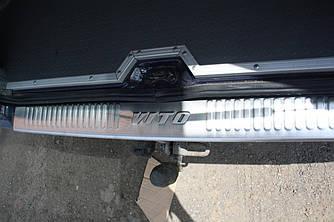 Накладка на задний бампер (Omsa, нерж) - Mercedes Vito W638 1996-2003 гг.