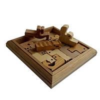 Деревянная головоломка Круть Верть Зоопарк 2х15х15 см nevg-0026, КОД: 119476