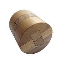 Деревянная головоломка Круть Верть Цилиндр 8х7.5х7.5 см nevg-0020, КОД: 119455
