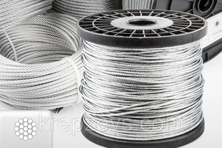Трос Ф6.0 плетение 1х19 DIN 3053