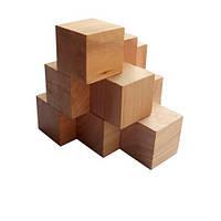 Деревянная головоломка Круть Верть Пирамида KMBS 6х6х6 см nevg-0023, КОД: 119421