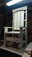 "Кресло трон ""Титан"" высота 160 см без покраски, заготовка"