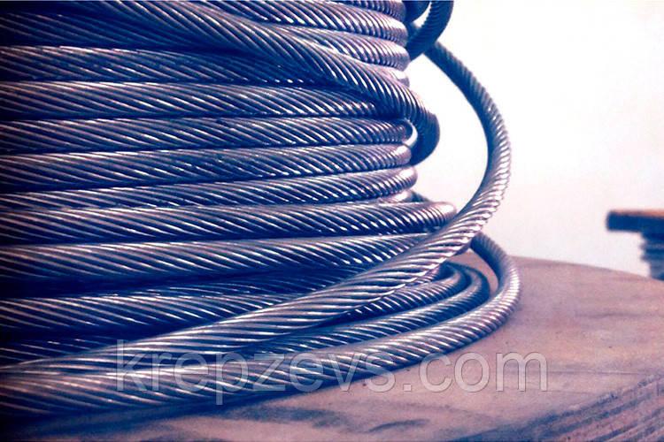 Трос Ф8.0 плетение 1х19 DIN 3053