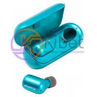 Наушники Firo A2 Blue, Bluetooth стерео-наушники с микрофоном и кейсом для заряда