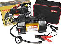 Автомобильный компрессор VOIN VP-620 150psi/28Amp/80л/клеммы/фонарь/2цил автомобильный насос для подкачки шин от прикуривателя
