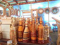 Бутылки отплетенные лозой 0.5 л