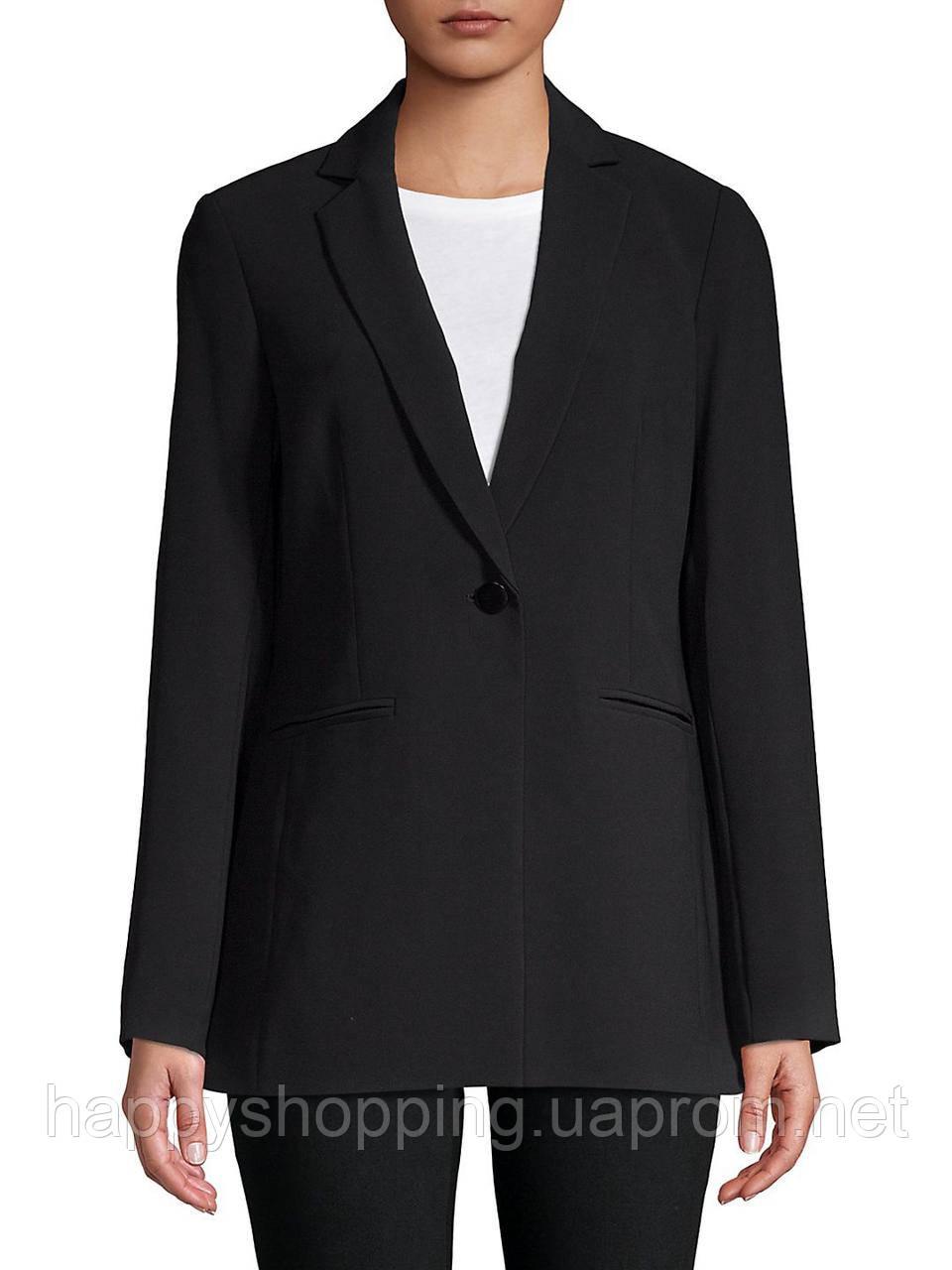 Женский черный удлиненный пиджак Karl Lagerfeld