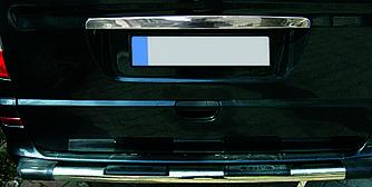 Накладка над номером (ляда, нерж) - Mercedes Viano 2004-2015 гг.
