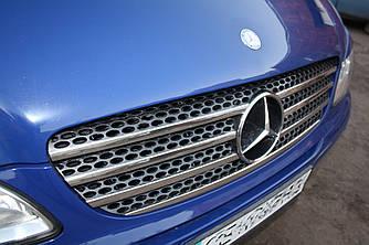 Накладки на решетку (7 частей, нерж.) - Mercedes Viano 2004-2015 гг.