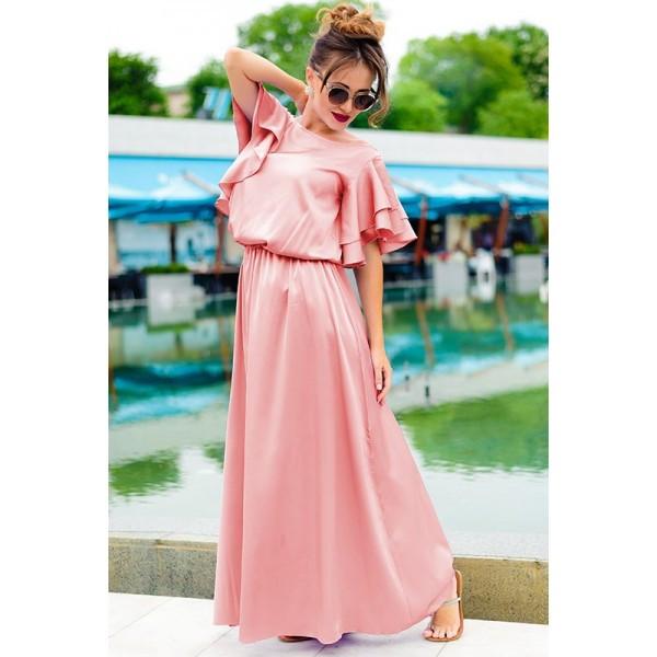 Летнее платье в греческом стиле  Шерлиз пудра