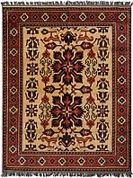 Афганский шерстяной ковёр ручной работы с эффектом старения.  Каргаи. Шерсть. Размер 1980х1530мм.