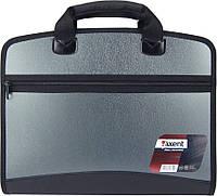 Портфель на 4 отделения Axent А4  серый металлик 1621-11-А