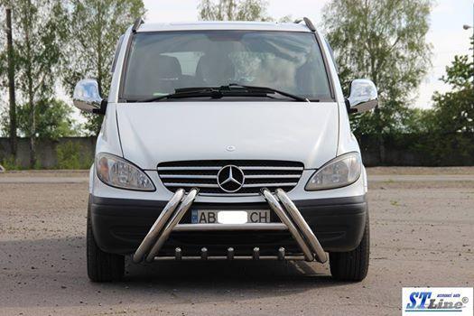Кенгурятник WT01 (нерж.) - Mercedes Viano 2004-2015 рр.