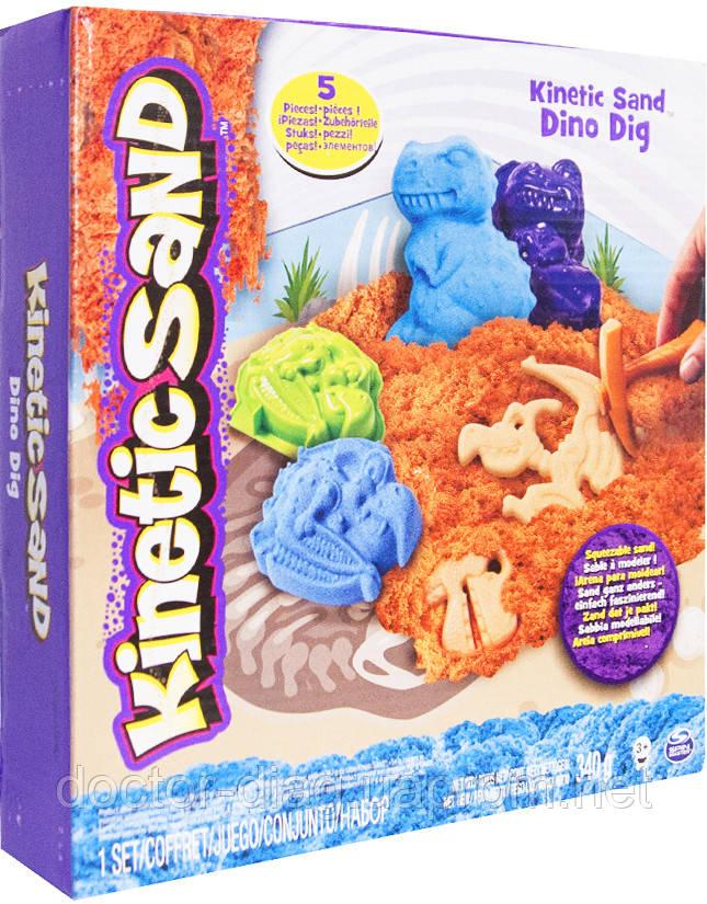 Wacky-Tivities Кинетический песок Wacky-tivities Kinetic Sand Dino, голубой/коричневый (71415Dn)