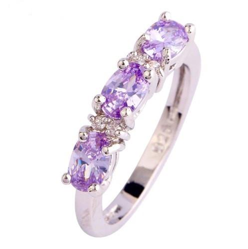 Серебряное кольцо, Ободок, с розовыми камнями куб. цирконий, размер 18