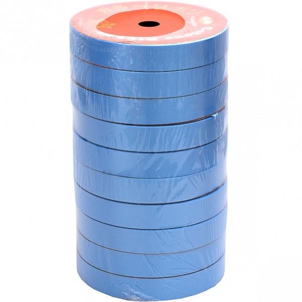 Лента 16 мм*10 м голубая, 10 штук