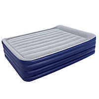 67528 BW Надувная кровать NightRight Raised Air Bed(Queen) 203х 152х56 см со встроенным насосом