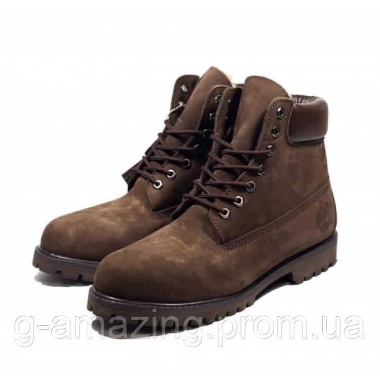 """Ботинки Timberland  """"Brown"""" высокие"""
