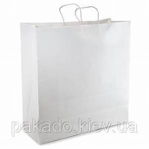 Бумажный пакет с дном 320х150х300 Белый 100г, витые ручки