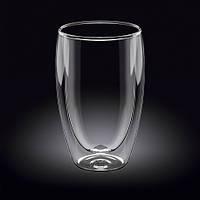 """Пиала/ термо чашка стеклянная с двойными стенками """"Гейша"""" 400 мл."""