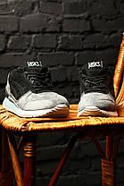 Кроссовки мужские Asics Gel Respector LT Pack черно-серые топ реплика, фото 2