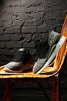 Кроссовки мужские Asics Gel Respector LT Pack черно-серые топ реплика, фото 3