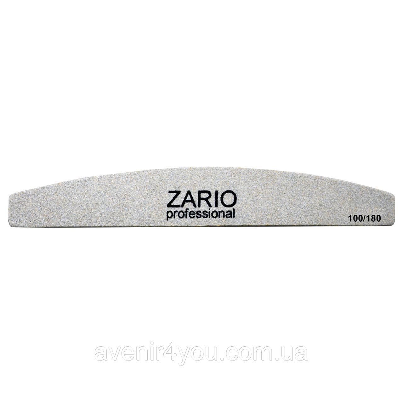 Тонкая пилка для ногтей Zario 100/180 грит Месяц