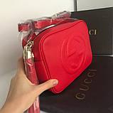 Сумка, клатч Гучи Soho, натуральна шкіра, колір червоний, фото 3