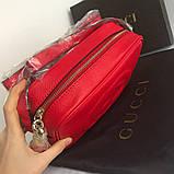 Сумка, клатч Гучи Soho, натуральна шкіра, колір червоний, фото 4